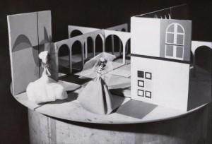 Vjenceslav Richter, Maketa scenografije za Vjenčanje u samostanu Sergeja S. Prokofjeva, 1959.